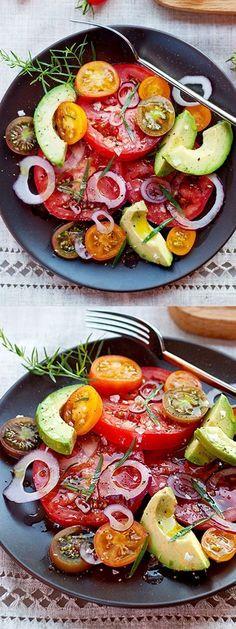 Avocado, Onion and Tomato Salad