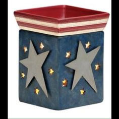 """Brand new, in box """"Liberty"""" Scentsy warmer New, in original packaging, never been used """"Liberty"""" red, white, and blue Scentsy warmer. Scentsy Other"""