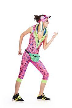 aa1d61875afa0 Hot Pink & Juicy Green Tropicool - Spacesuit. State of Disarray!