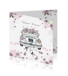 Trouwuitnodiging met verfvlek in oranje en geel trouwkaart bruiloft kaarten aquarel - Hout verfvlek ...
