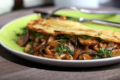 Coconut Chickpea Crepes with mushrooms  with recipe (link)