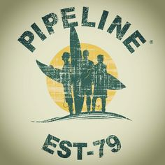 A cool retro design from Pipeline Clothes & Gear to share from the archives. Sharpie Designs, Retro Surf, Beach Cars, Surf Art, Surf Style, Surfs Up, Transfer Paper, Retro Design, Logo Design Inspiration
