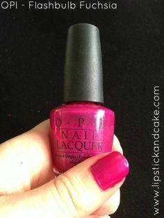 OPI Flushbulb Fuchsia nail polish #opi #nailpolish
