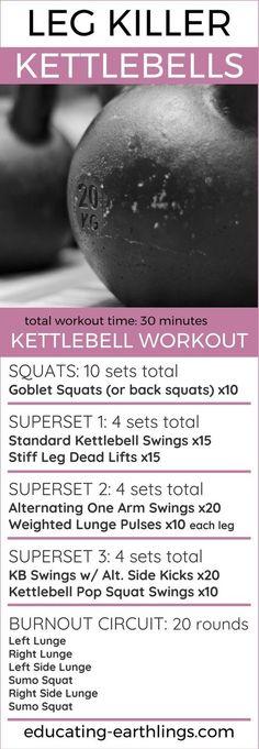 Kettlebell Leg Workout | Posted By: CustomWeightLossProgram.com