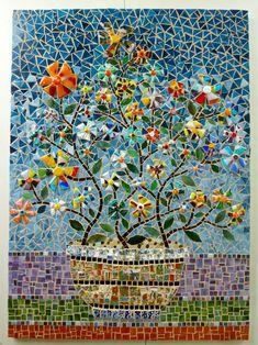Pot of #flowers #mosaic #art