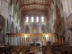 Picture of the Presbytery and Quire, St. David's Cathedral, St. David's, Pembrokeshire, Wales