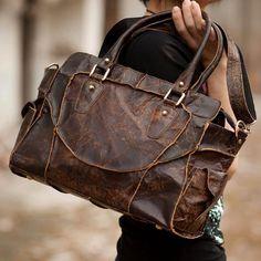 Vintage Handmade Antique Cow Leather Women's Handbag / Shoulder Bag / Messenger Bag