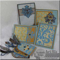 Cricut Tags and Cards. Damask Décor Cartridge.  *