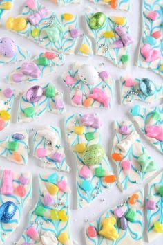 Easy Bunny Bark | Sprinkle Bakes