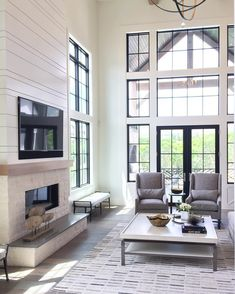 "1,297 Likes, 22 Comments - Cassity Kmetzsch (@remodelaholic) on Instagram: ""Aren't these windows a showstopper?! Last week on the blog, we shared this gorgeous living room…"""
