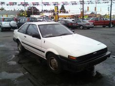 #1985 toyota corolla #ae86 #coupe. I want this car in red :)