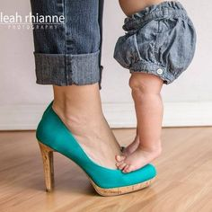 Six month photo shoot - Leah Rhianne Photography #leahrhiannephotography #heels #babygirl