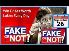 Flipkart Fake Or Not Fake Quiz Answers | 26 September 2020 | Today Fake Or Not Fake Quiz Answers - YouTube