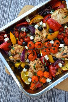 Frugal Food Items - How To Prepare Dinner And Luxuriate In Delightful Meals Without Having Shelling Out A Fortune Greek Chicken Traybake Greek Recipes, Real Food Recipes, Cooking Recipes, Healthy Recipes, Greek Chicken Recipes, Quick Recipes, Cooking Ideas, Delicious Recipes, Tasty