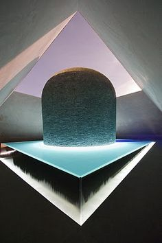 "James Turrell - Within without   part of his series of ""skyspaces"""