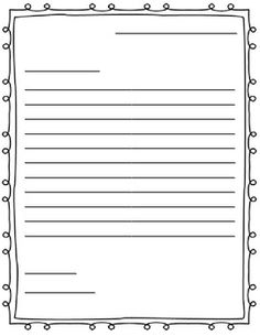 how to write a letter template