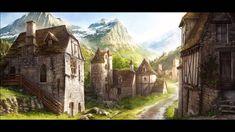 google fantasy town village mountain
