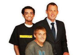 Lance and Survivors  DELL CHILDRENS  HOSPITAL, AUSTIN #LIVESTRONG #cancer