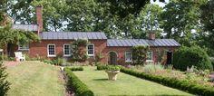 Oatlands History: Garden Dependency Buildings, circa 1821. Southern garden.