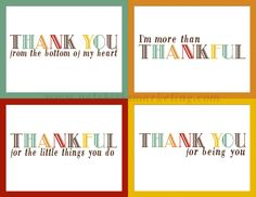 free download practice thankfulness postcards very cute set of