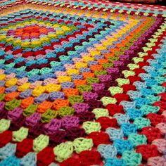 Granny Square Blanket. Color inspiration.