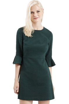Topshop Textured Bell Sleeve Dress.
