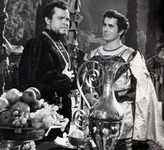 Orson Welles and Tyrone Power in Prince Of Foxes