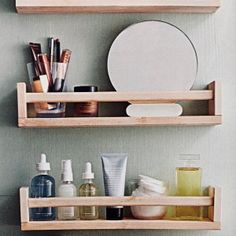 the best bathroom storage ideas for small spaces cabinets towels 181 Bathroom Shelf Decor, Small Bathroom Organization, Bathroom Storage, Ikea Organization, Bath Decor, Narrow Living Room, Small Bathroom With Shower, Over Toilet, Diy Home Decor Projects
