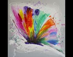ilxe264- schilderij vlinder 60x60