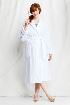 Plus Size Long terry robe with FREE matching slippers Women's plus ...