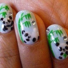 Stylish Panda Nails Animal Nail Art Designs Featured, Nail Art 22 Great Ideas for Animal Print Nail Arts animal nail art designs New Nail . Get Nails, Fancy Nails, Love Nails, Pretty Nails, Hair And Nails, Panda Nail Art, Penguin Nail Art, Animal Nail Art, Nail Art Designs