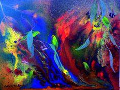 Greenie Lorikeets by Cathy McClelland -inspiration