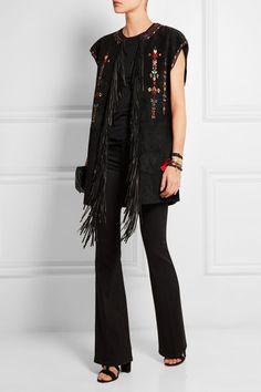 Isabel Marant Martin fringed embroidered suede vest $5,535