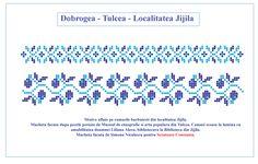 Dobrogea, Camasa dreapta. Model descifrat si desenat de catre Simona Niculescu Danube Delta, Folk Embroidery, Filet Crochet, Mood Boards, Origami, Cross Stitch, Tips, Blog, Bow Ties