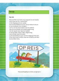 Versje: Op reis Primary School, Jogging, Transportation, Camping, Kids, Europe, Walking, Campsite, Young Children