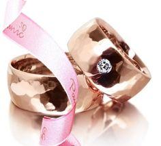 kovane burme, roze zlato, brilijant