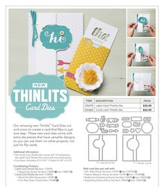 Make fun flip cards and surprise your friends and family with these great new Flip Card Thinlits!