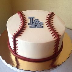 Dodgers baseball cake #sugarandfrosting by sugarandfrosting