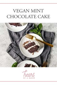 Looking for a vegan easy chocolate cake? Click through to find out how to make this delicious Vegan Mint Chocolate Cake! | Heart of a Baker #vegancake #veganchocolatecake #veganrecipes Vegan Chocolate Brownies, Vegan Dark Chocolate, Dairy Free Chocolate, Mint Chocolate Chips, Chocolate Recipes, Chocolate Cake, Healthy Vegan Dessert, Vegan Recipes Easy Healthy, Vegan Dessert Recipes