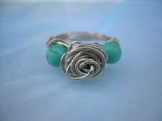 Wire Wrapped Turqoise Ring