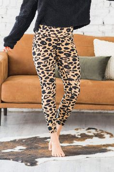 Trust us when we tell you, the Leopard Print Athleisure Pants is a must! They are so soft, with a perfect fit and a fun leopard print. The waistband is extra tall, providing more support! They would make perfect yoga pants, running errands, or lounging around the house! Casual Outfit Ideas, Cute Casual Outfits Cute Casual Outfits, Simple Outfits, Leopard Print Leggings, Boutique Clothing, Women's Clothing, Comfortable Fashion, Mom Style, Spring Outfits, Plus Size Outfits