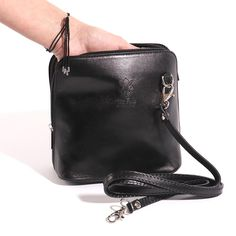 Italian Leather Structured Cross Body Bag with Removable Straps Leather. Everyday Activities, Italian Leather, Evening Bags, Leather Crossbody Bag, Cross Body, Shoulder Strap, Purses, My Style, Black