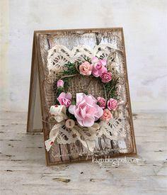 Klaudia/Kszp, Flowers card with wreats