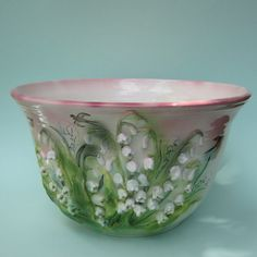 Another Lark piece - she really is incredible. Her pieces are like majolica ware! Tea Sets Vintage, Vintage Cups, Lily Of The Valley Flowers, Australian Native Flowers, Birth Flowers, China Sets, Shades Of Green, Spring Flowers, Ceramic Art