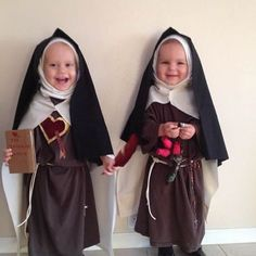 Catholic Kids - costumes for All Saint's Day or Halloween -