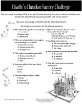 Printable quiz for Charlie and the Chocolate Factory by Roald Dahl http://www.teachervision.fen.com/quiz/printable/52035.html #RoaldDahl #CharlieAndTheChocolateFactory