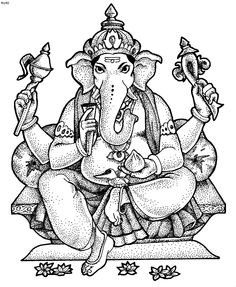 ganesha printable sheets coloring book ganesha printable sheets - Coloring In Book