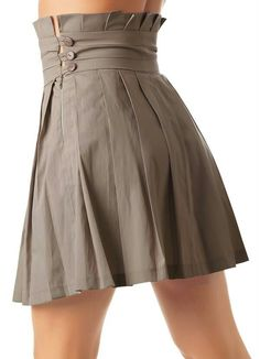 Lovely lines, pleats buttons Cute Skirts, Short Skirts, Cute Dresses, Girly Outfits, Skirt Outfits, Dress Skirt, Diy Clothes, Clothes For Women, Beautiful Outfits