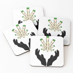 'Holy Joint / Praying For Weed' Coasters by RIVEofficial Cold Drinks, Coaster Set, Holi, Weed, Pray, Custom Design, Trends, Accessories, Shopping