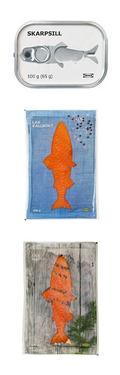 IKEA packaging IKEA simple window clever  fish